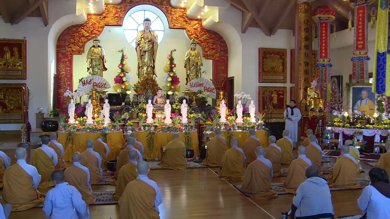 Lễ Bế Mạc khóa niệm Phật Báo Ân /Húy Nhật  Sư BÀ Tọa chủ .