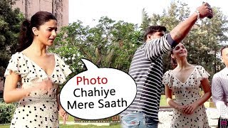 Alia Bhatt's SWEET Gesture Calling FANS & Taking A Photo With Them
