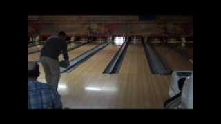 Bowling Two Hands, Left Hand on Right Side, Backward Hook