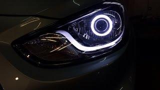 Hyundai Solaris биксенон. Линзы биксенон.(Продажа и установка линз Санкт-Петербург. Наш сайт ксенонцентр.рф Наша группа vk.com/zumato., 2014-11-09T22:43:14.000Z)