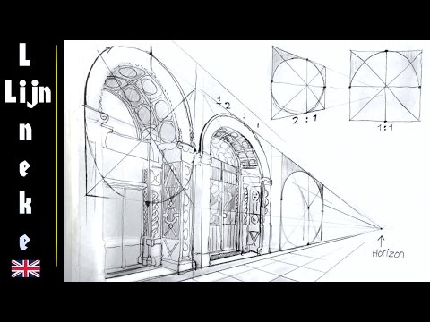 How to draw Arches / perspective and landscapes / # 17