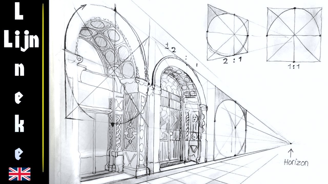 How To Draw ARCHES Perspective Drawing For Beginners