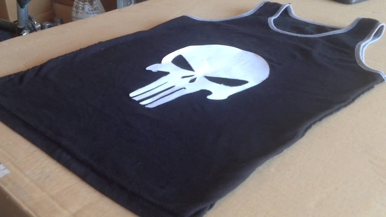 how to make a punisher skull shirt youtube