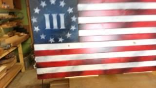 New 3 Flag Gun Cabinet