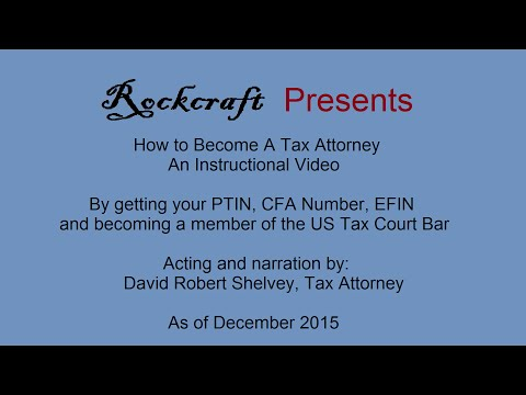 How To Get Your PTIN, CAF Number, EFIN, and US Tax Court Bar Number