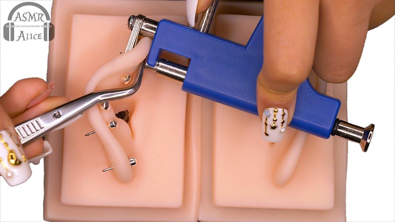 【〇〇がない!?】ASMR 通販で500円だったピアッサーの音と感触 - Sound and feel of a piercing machine purchased for $5 at Amazon