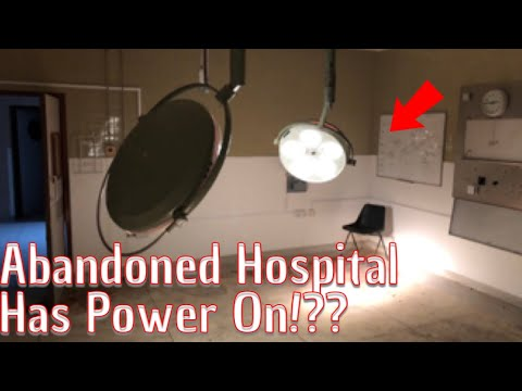 We Explorer An Abandoned Hospital With The Power Supply On & Everything Left Behind!!
