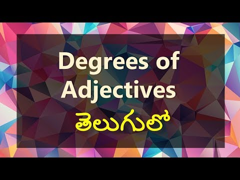 Learn degrees of adjectives in Telugu | Degrees of comparison meaning and examples - Day 14