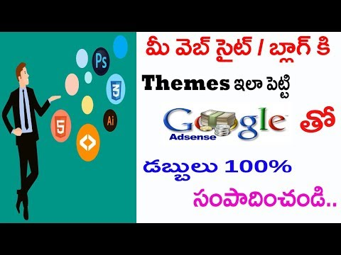 How To Download And Install Blogger Templates (Mobile Friendly) For Free 2018 In Telugu