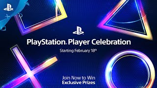 PlayStation Player Celebration - Join Now To Win Exclusive Prizes