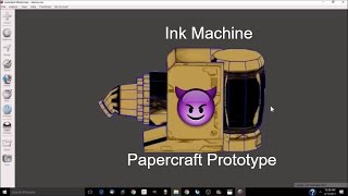 [BaTIM] Bendy Ink Machine: Papercraft meets 3D print Part 1