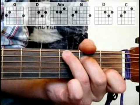 Learn How To Play Knockin On Heavens Door Acoustic Guitar