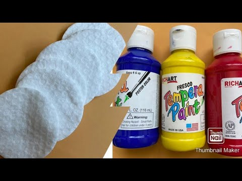 Funny game for kids with cotton rounds,colors and hammer game at home || Ideas to entertain kids?