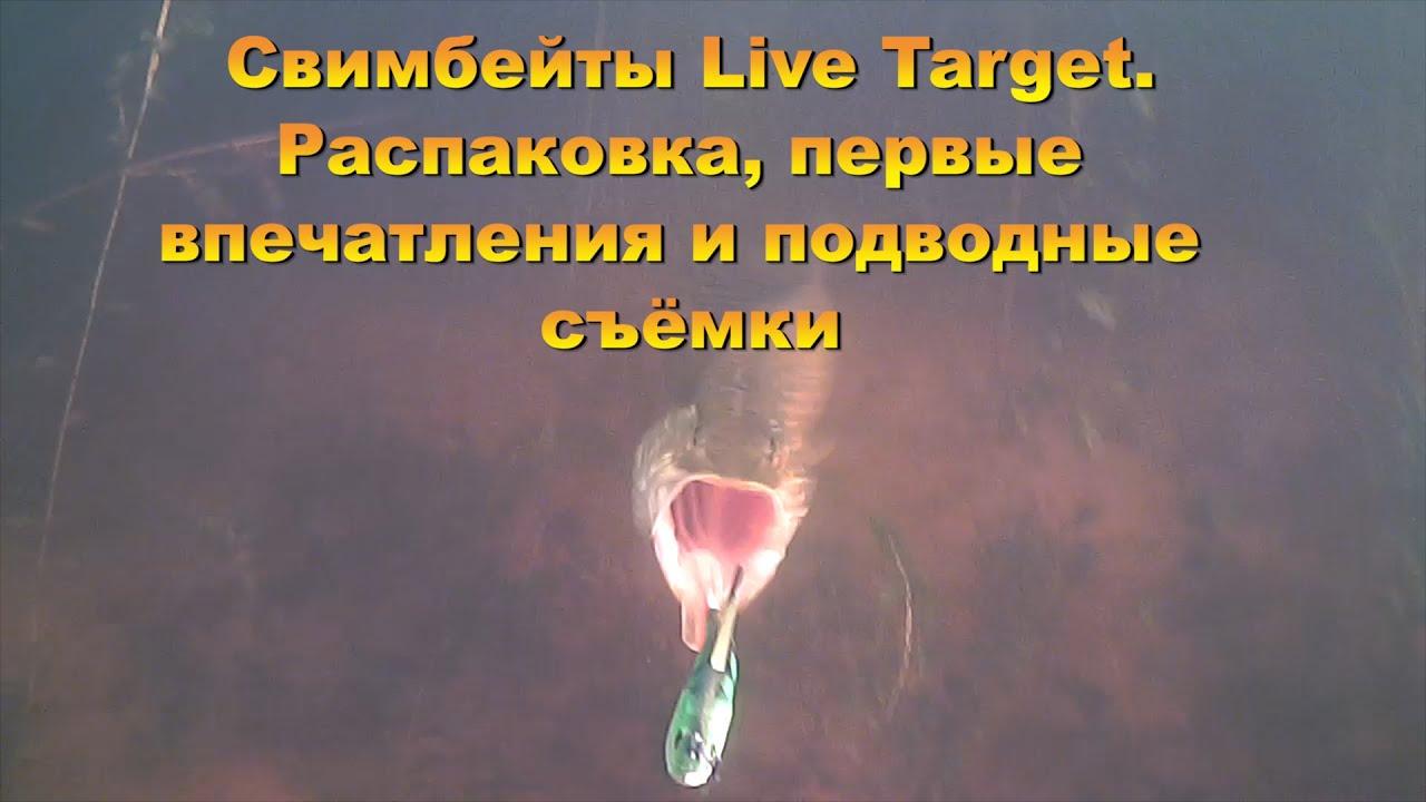 Свимбейты Live Target. Распаковка, первые впечатления и подводные съёмки