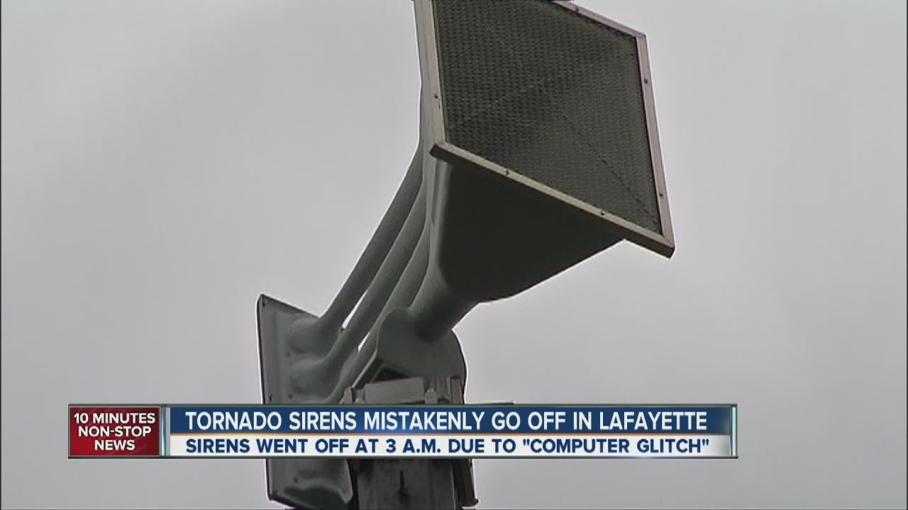 Download Tornado sirens inadvertently activated at 3 a.m.