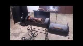 Мангал своими руками (вертел, гриль, барбекю, коптилка) Видео №1(Самодельный многофункциональный мангал (коптилка, барбекю, мангал, вертел) изготовленный из пропановых..., 2014-04-13T18:56:44.000Z)