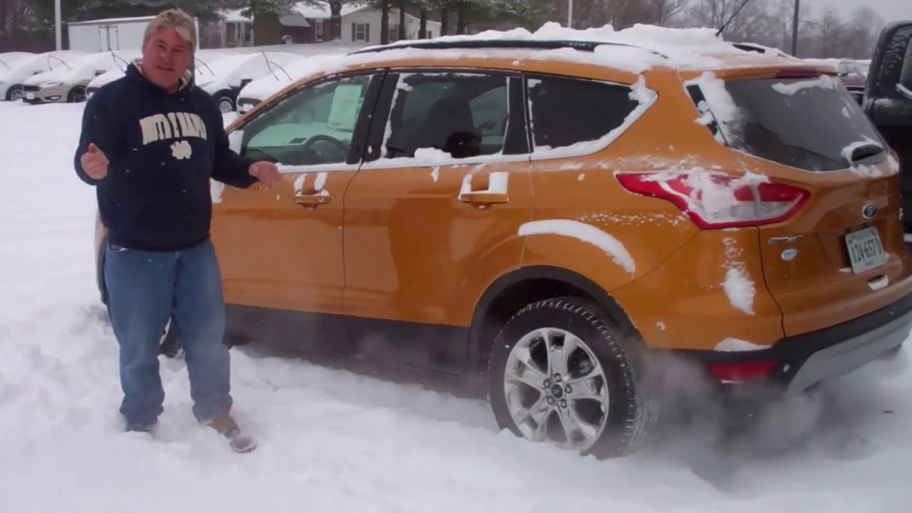 Ron Ginger 2016 Ford Escape Snow Test Drive 12 22 16 Youtube