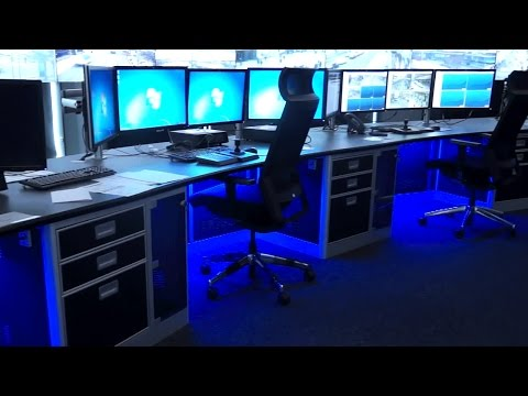 Security Control Room Furniture for Glasgow Operations Centre