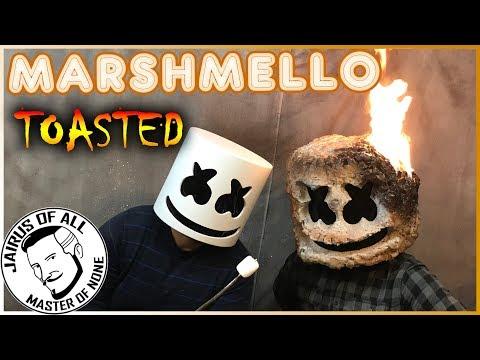 "MARSHMELLO HELMET TOASTED - How To Make a ""Light Up"" Marshmello Mask Roasted"