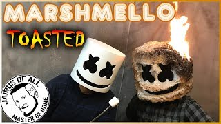 """MARSHMELLO HELMET TOASTED! - How To Make a """"Light Up"""" Marshmello Mask Roasted Version Video"""
