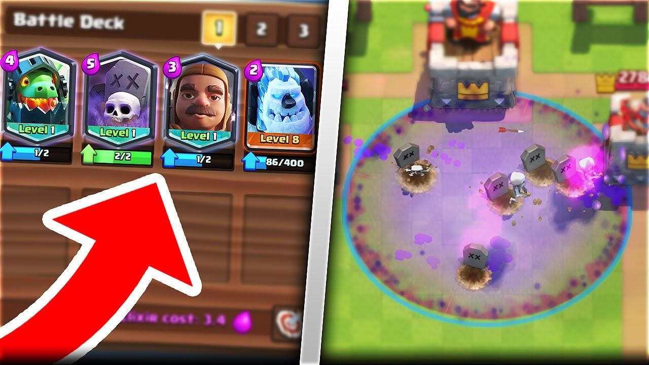 New Graveyard Ice Golem Cards Clash Royale New