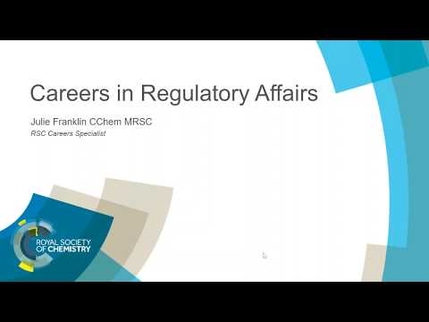 ChemCareers 2018 A career in Regulatory Affairs