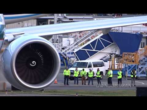 Ge90 Engines Fire Up to Deliver Cathay Pacific 77W B-KQU
