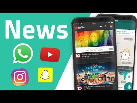 News zu WhatsApp, YouTube, Instagram und Snapchat
