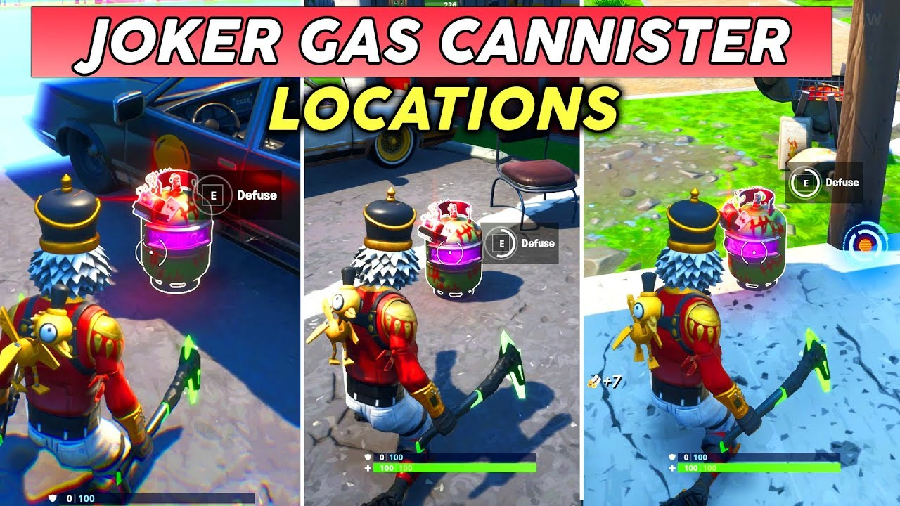 Diffuse Joker Gas Canisters Found In Different Named Locations Fortnite Welcome To Gotham City