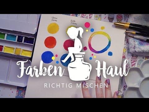 Malen mit Acryl Farben und einer Schnur – String Pull in drei Farben from YouTube · Duration:  5 minutes 40 seconds