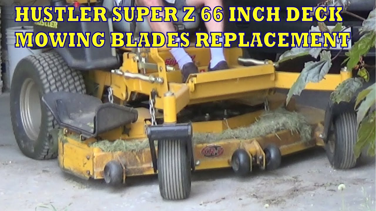 Replacement blades for hustler mowers
