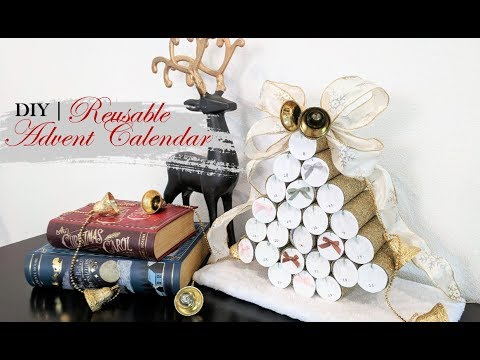 CHRISTMAS DECOR DIY | Toilet Paper Roll Reusable Advent Calendar