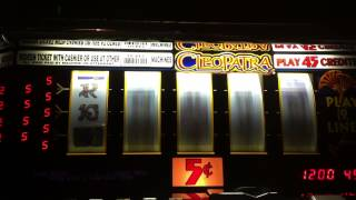 IGT s2000 Cleopatra slot machine bonus jackpot handpay as it happens