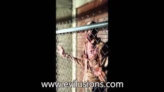 Evilusions Zombie Fence Shaker Haunted House Animatronic