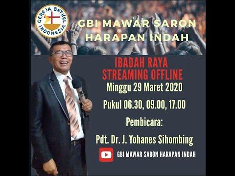 IBADAH RAYA MINGGU, 29 MARET 2020 GBI MAWAR SARON HARAPAN INDAH