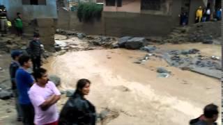 Huayco en Chosica 2015 - San Antonio y Otros
