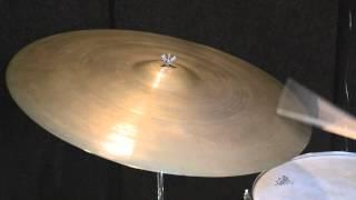 "Steve Maxwell Vintage Drums - 24"" A. Zildjian 3040g ""Block Stamp"""