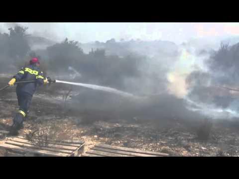 Fire at Hirokitia village