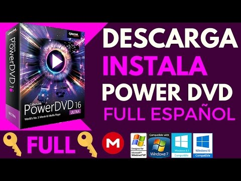 Download and Install CyberLink PowerDVD 16 Ultra Full Spanish For Windows 32 and 64 bits 7/8/10 MEGA