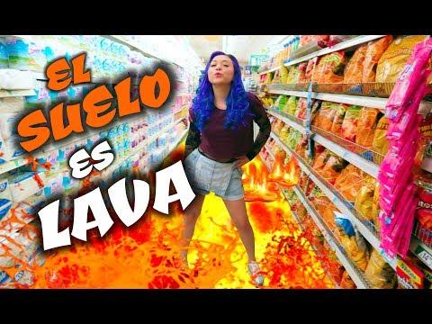 EL SUELO ES LAVA bailando en el supermercado – Reta a Sonny Batits | Palomitas Flow