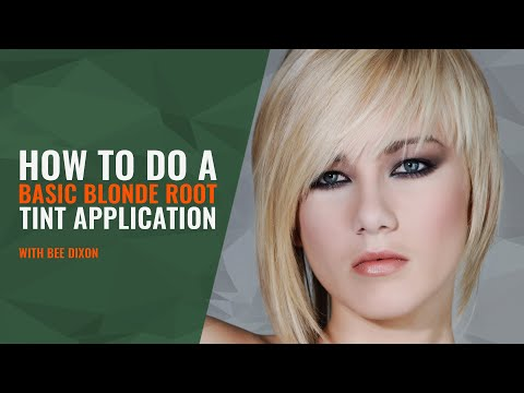 how-to-do-a-basic-blonde-root-tint-application