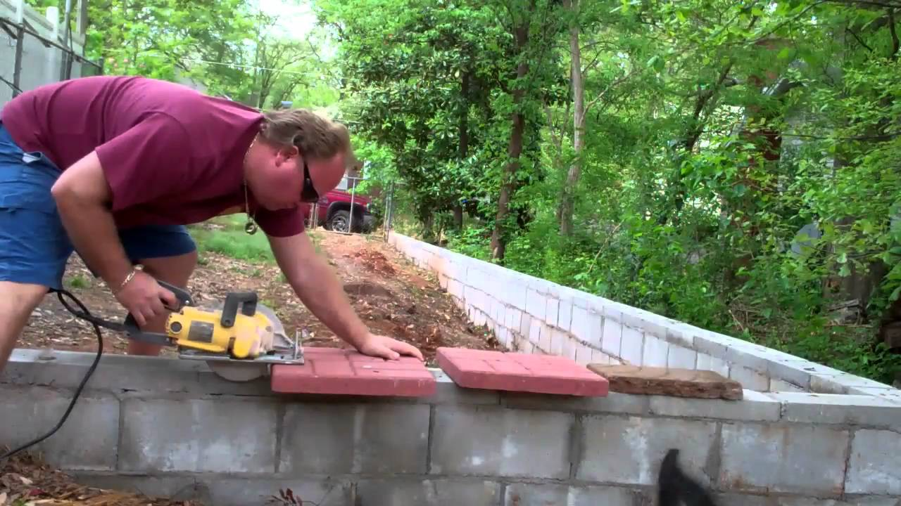 Building A Brick Bench Finishing A Stone Patio And Brick