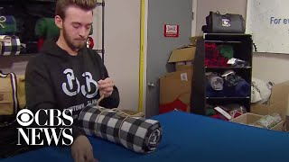 College student's blanket business gives back to the homeless