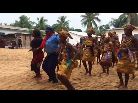 Agbadza dance Volta region of Ghana.