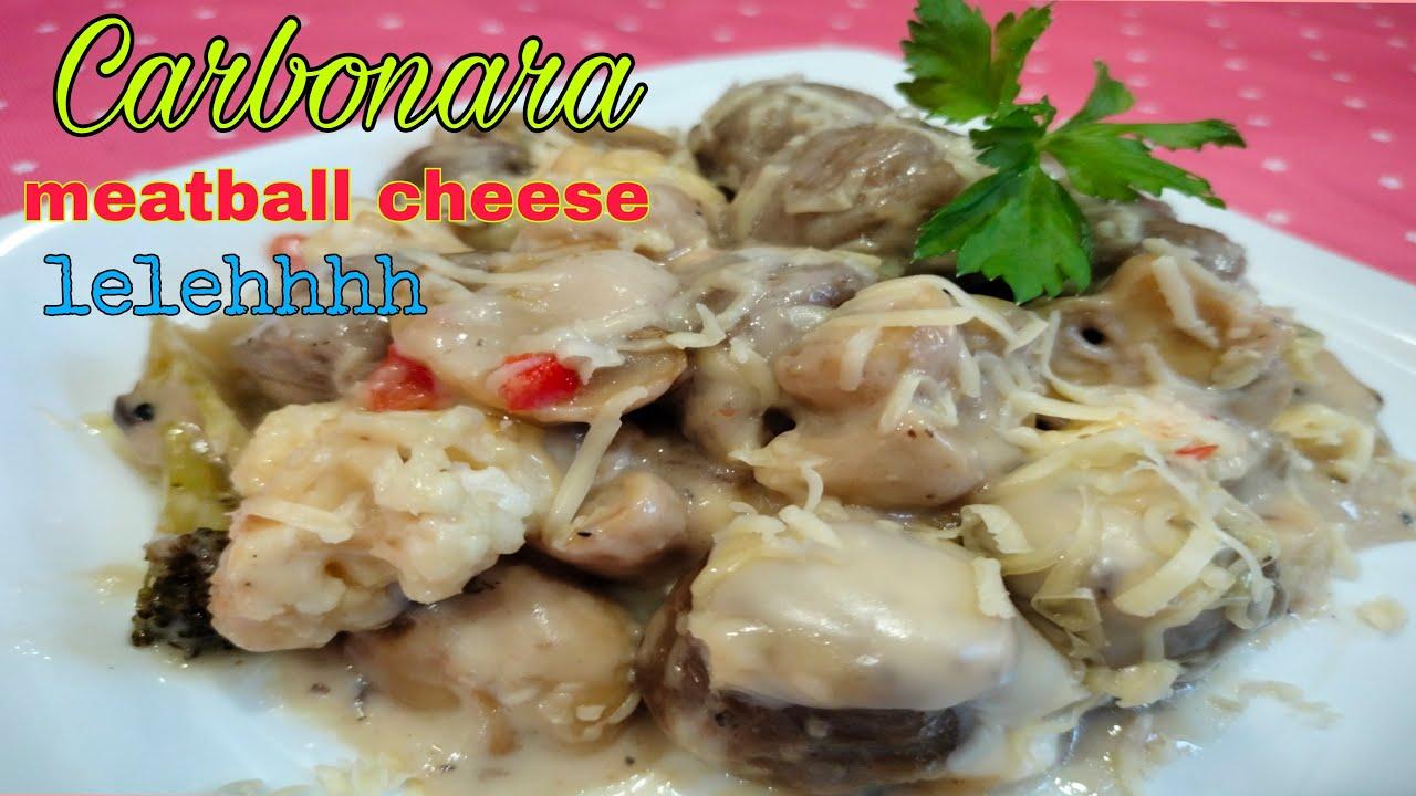 Download Carbonara meatball cheese leleh