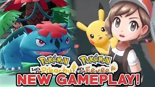 POKEMON LET'S GO PIKACHU & LET'S GO EEVEE NEW GAMEPLAY! NEW MEGA EVOLUTION & GYM LEADER FOOTAGE