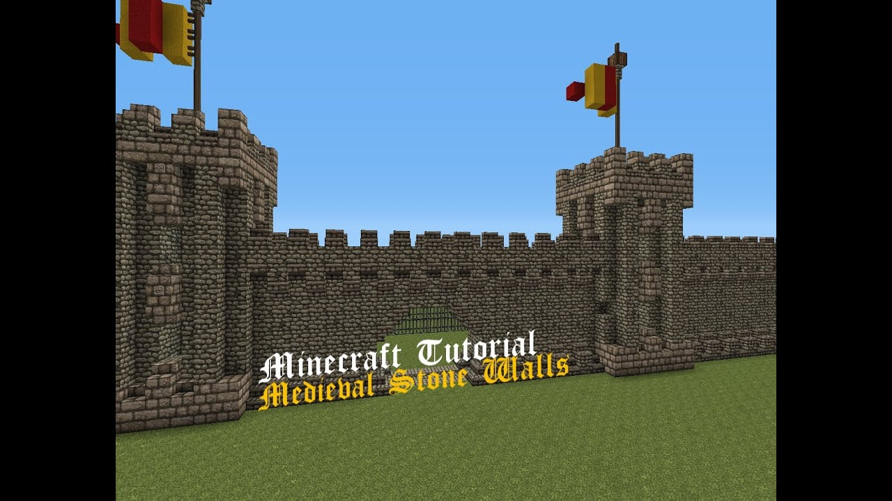 Medieval Stone Walls | Minecraft Tutorial | Final Part - YouTube