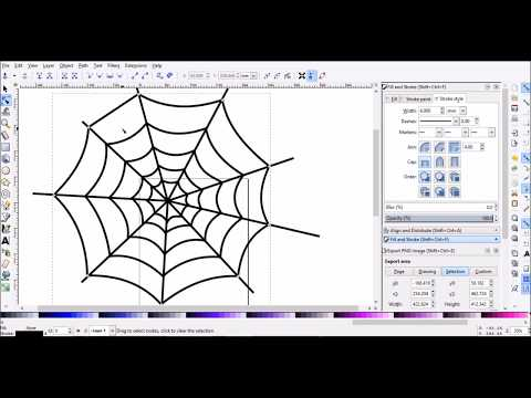 Spider web in Inkscape Tutorial for Beginner SUBSCRIBE