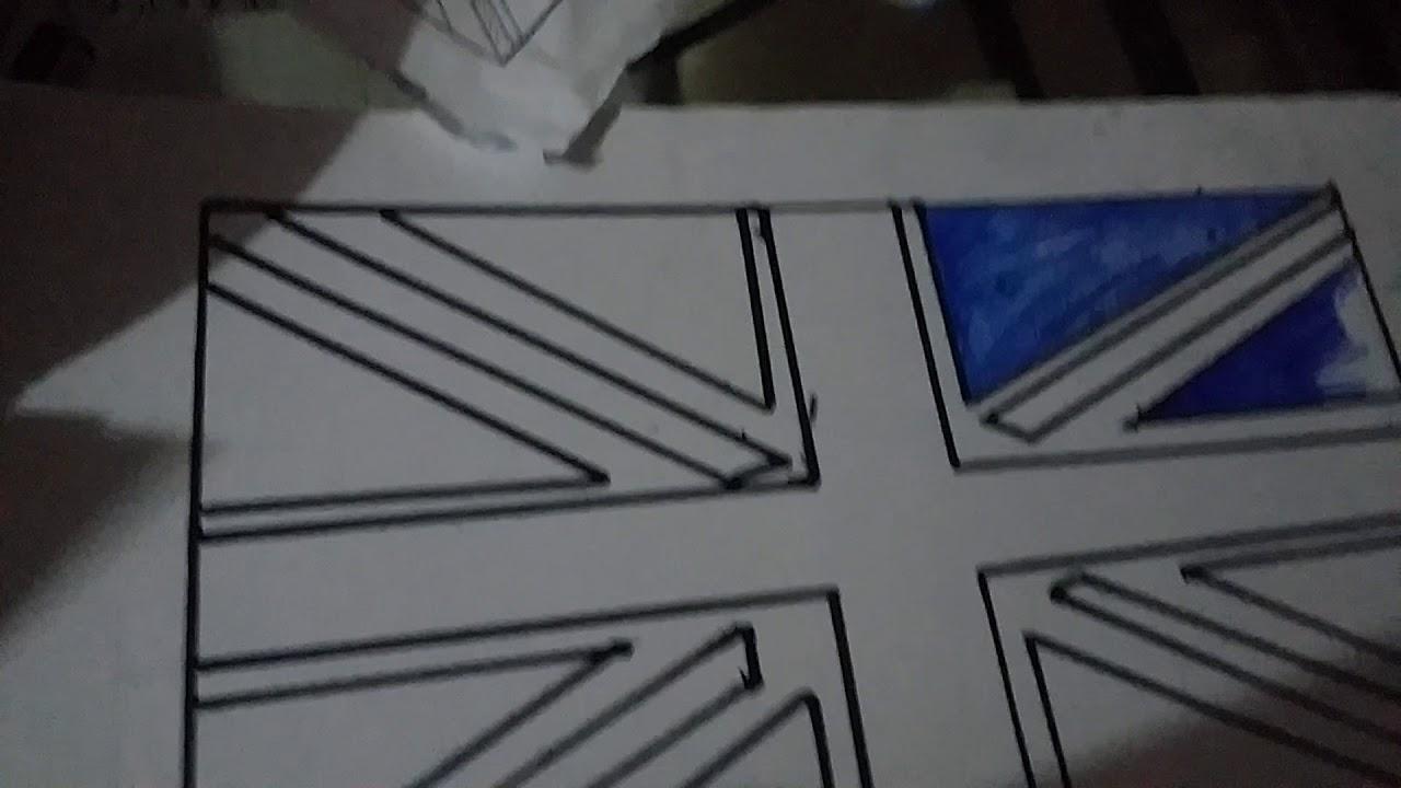 Como Dibujar La Bandera De Reino Unido Youtube