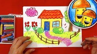 Как нарисовать ДОМИК для ДЕТЕЙ урок рисования